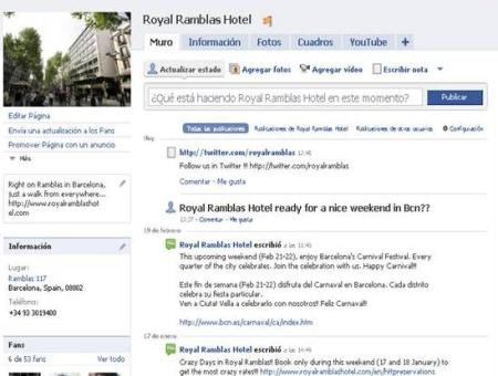 Facebook Hotel Royal Ramblas en Barcelona