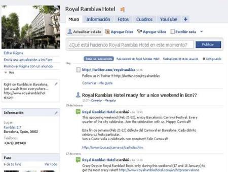 Facebook Hotel Royal Ramblas en Barcelona
